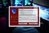 Information firewall popup programming poster