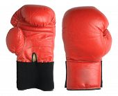 foto of boxing gloves  - Boxing gloves isolated on white background - JPG