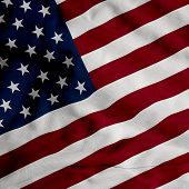 picture of waving american flag  - Close up of the American flag - JPG