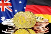 Concept For Investors In Cryptocurrency And Blockchain Technology In The Australia And Germany. Bitc poster