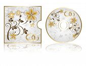 stock photo of greeting card design  - Wedding CD Labels on a white background - JPG