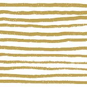 Gold Hand Drawn Shapes. Vector Hand Drawn Paint Brush. poster