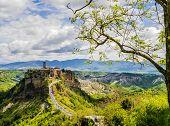 Panoramic View Of Picturesque Civita Di Bagnoregio, Ghost Mediaeval Town In Lazio, Central Italy poster