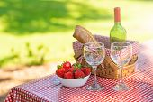 Picnic On The Nature. Romantic Dinner On The Nature. Rest On Vacation Or Weekend poster