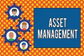 Text Sign Showing Asset Management. Conceptual Photo Systematic Process Of Operating And Disposing O poster