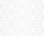 Silver Lines Seamless Pattern. Vector Geometric Texture With Delicate Grid, Lattice, Net, Thin Diago poster