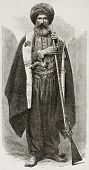 foto of mesopotamia  - Old Chaldean man engraved portrait - JPG