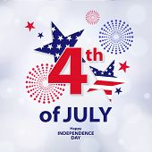 Fourth Of July. 4th Of July Holiday Banner. Usa Independence Day Background For Sale, Discount, Adve poster