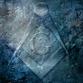 stock photo of freemason  - Grunge background with freemason symbol on it - JPG