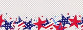 Fourth Of July Background. 4th Of July Holiday Long Horizontal Border. Usa Independence Day Decorati poster