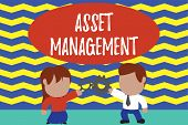 Conceptual Hand Writing Showing Asset Management. Business Photo Text Systematic Process Of Operatin poster