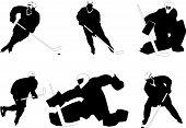 Постер, плакат: Группа игроков в хоккей