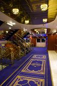 foto of cruise ship  - Shiny Luxury Interior of Ocean Cruise Ship - JPG