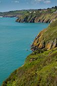 stock photo of dartmouth  - South Devon coastal view towards Stoke Fleming and Slapton from Dartmouth - JPG