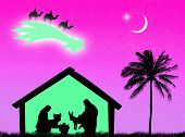 pic of holy family  - Jesus birth in the stable to represent Christmas time - JPG