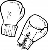 image of pugilistic  - Doodle style boxing illustration in vector format - JPG