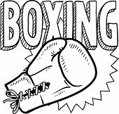 picture of pugilistic  - Doodle style boxing illustration in vector format - JPG