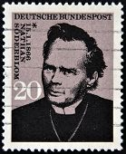 A stamp printed in Germany shows Nathan Soderblom