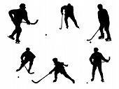 picture of bandy stick  - The bitmap image of separate subject of game of bandy on a white background - JPG