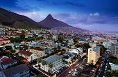 image of apr  - Cape Town - Apr 8: City of Cape Town at night on Apr 8, 2012. 