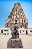 pic of vijayanagara  - holy cow and virupaksha temple  - JPG