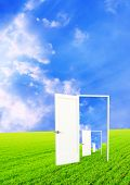 foto of open door  - Conceptual image  - JPG