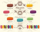 picture of french pastry  - Tasty colorful french macaron - JPG