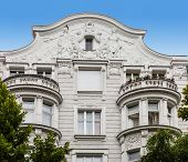 image of building relief  - Facade of Art Nouveau buildings in Berlin - JPG