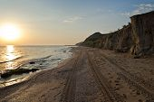 stock photo of azov  - The coast of the Sea of Azov in beams of the morning sun - JPG