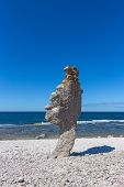 Rock Formation On F�r� Island In Sweden