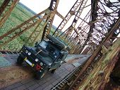 Sena Railway Bridge And Land Rover