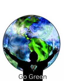picture of stewardship  - The silhouette of an environmentalist embracing the world - JPG
