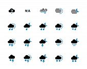 Weather duotone icons on white background.