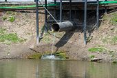 foto of water shortage  - the old pipe with to flow water - JPG