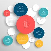 picture of circle shaped  - Vector abstract circles illustration  - JPG