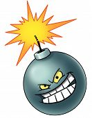 Cartoon Bomb Icon