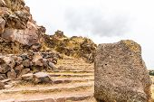 pic of urn funeral  - Funerary towers in Sillustani PeruSouth America - JPG