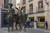 Romanillas Square Also Called Square Of The Donkey By The Sculpture Of A Donkey On The Side Of The S