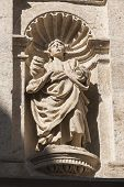 Sculpture Of St. John The Evangelist In The Renaissance Facade Of Access To The Royal Chapel, Granad