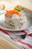 Smoked Salmon With Yogurt Dressing