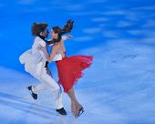 MOSCOW, RUSSIA - FEBRUARY 24, 2014: Peter Tchernyshev and Naomi Lang in action during Gala concert o