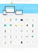 picture of passport template  - Vector collection of modern simple flat and trendy business and finance icons - JPG