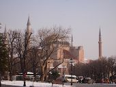 Hagia Sofia in a winter day
