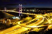 foto of hong kong bridge  - Suspension bridge in Hong Kong - JPG