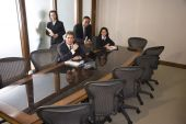 pic of business meetings  - Four office workers  - JPG