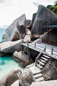 The Old Wooden Bridge Of Koh Nang Yuan