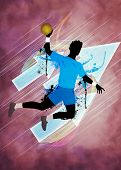 Handball Man Background
