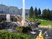 stock photo of samson  - Beautiful fountains of Peterhof - JPG