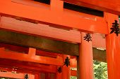 stock photo of inari  - Otorii partial close - JPG