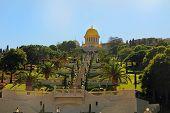 image of burial  - Beautiful Shrine of Bab and its gardens on Mount Carmel in Haifa - JPG